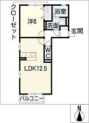 casa・L B棟[2階]の間取り