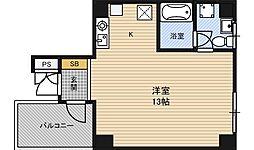 カサデアートZELO[2階]の間取り