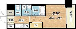 大阪府大阪市浪速区桜川2の賃貸マンションの間取り