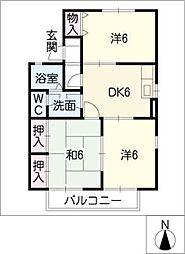 クレスト須ケ口[1階]の間取り