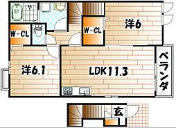 パークアベニューⅠ[2階]の間取り