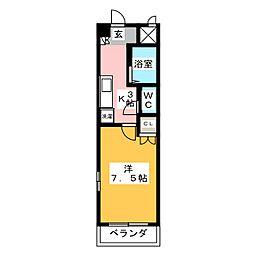 アネックスフジヤII[3階]の間取り