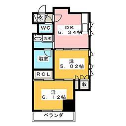 静岡七間町エンブルコート[4階]の間取り