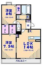 K.S・セントフォーラム[305号室]の間取り