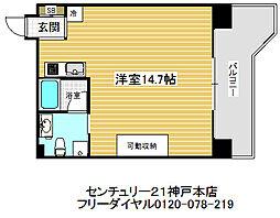 ロイスグラン神戸湊川公園[4階]の間取り