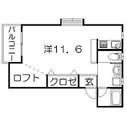 静岡県浜松市中区高丘東4丁目の賃貸アパートの間取り