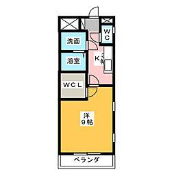 カーサ・プルチーノ[2階]の間取り