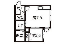 グランドサクセス東札幌[3階]の間取り
