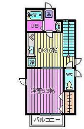 コンフォート ハナブサ[2階]の間取り