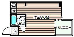 梅田ベイスワン[7階]の間取り
