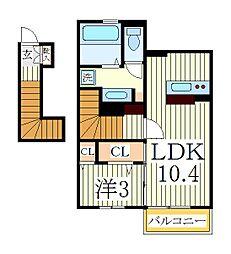 カトレア[2階]の間取り