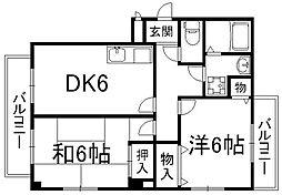 エクセルミナミ[2階]の間取り