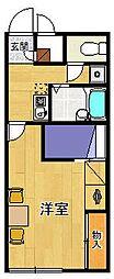 レオパレスBlancCheval2[105号室]の間取り