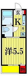 フォセット松戸・上本郷[2階]の間取り