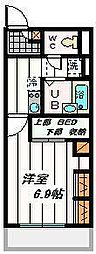 埼玉県さいたま市桜区下大久保の賃貸マンションの間取り