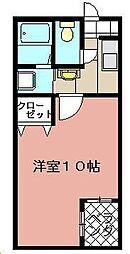 メゾンド・グロウ・21[302号室]の間取り