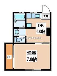 ニュー高井田マンション[4階]の間取り