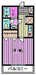 ヴィルヌーブ指扇[2階]の間取り