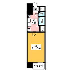 クレスト覚王山[7階]の間取り