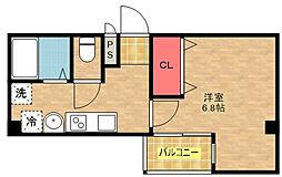 ルミエール御崎[8階]の間取り
