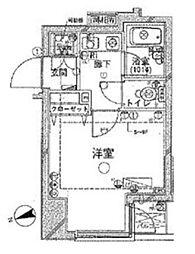 東京都新宿区片町の賃貸マンションの間取り
