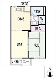 コーポ丸豊[2階]の間取り