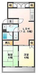 神奈川県川崎市宮前区有馬5丁目の賃貸マンションの間取り
