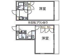 レオパレスUZAWA[2階]の間取り