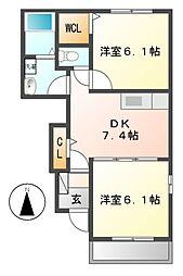カ-サ グランデI[1階]の間取り