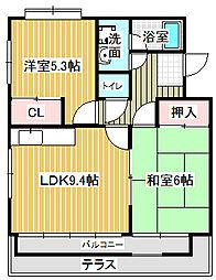 愛知県名古屋市中川区中野新町5の賃貸マンションの間取り