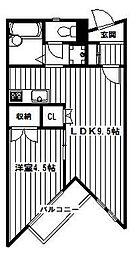 東京都練馬区富士見台4丁目の賃貸アパートの間取り