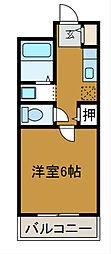 東京都町田市金井町の賃貸マンションの間取り