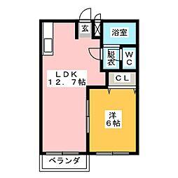エスポアール21A[1階]の間取り
