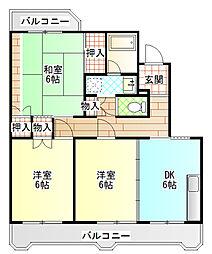カサベルデ額田[3階]の間取り