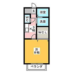 サン・friends HiRO[2階]の間取り