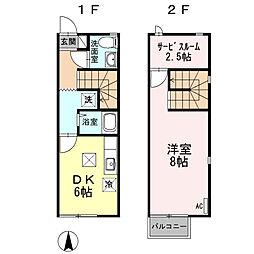 [テラスハウス] 大分県大分市岩田町3丁目 の賃貸【/】の間取り