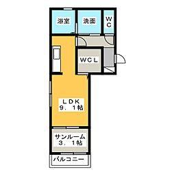DWELL北島[3階]の間取り