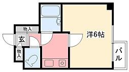 ホワイエ甲子園[206号室]の間取り