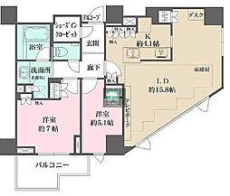 プラウド恵比寿南 9階3LDKの間取り