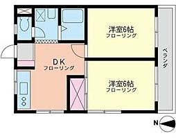 神奈川県横浜市泉区中田北1丁目の賃貸マンションの間取り
