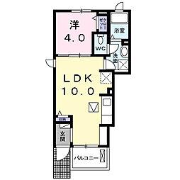 ラ リュンヌ[1階]の間取り