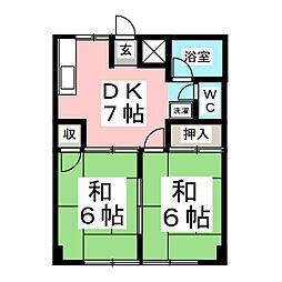 シティハイツアサノ[1階]の間取り
