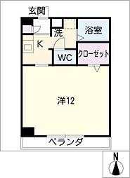 Gaia[4階]の間取り
