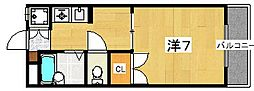 リバーサイド西牧野[2階]の間取り