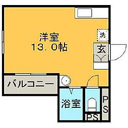 福岡県久留米市日吉町の賃貸マンションの間取り