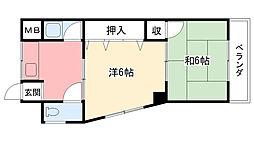 浜甲シーサイドマンション東[201号室]の間取り