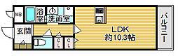 大阪府箕面市粟生新家3丁目の賃貸アパートの間取り