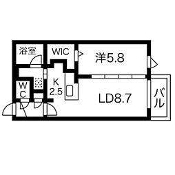 仮)S10W9MS B棟[201号室]の間取り