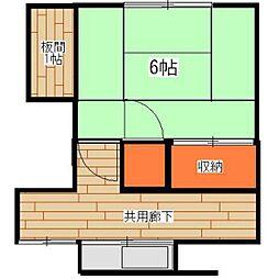 東京都武蔵野市吉祥寺東町2丁目の賃貸アパートの間取り