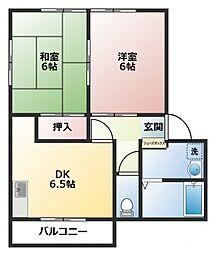 第8センターコーポ山部[1階]の間取り
